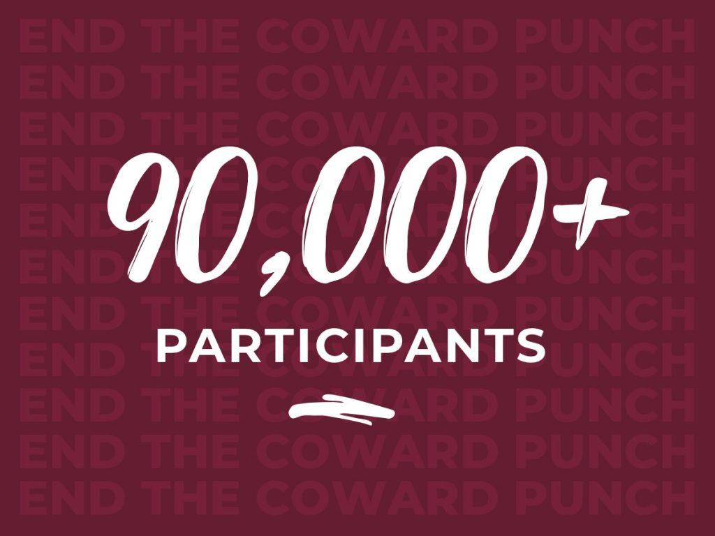 Pat Cronin Foundation - 90,000 participants