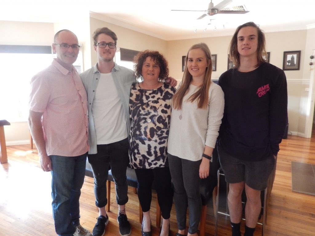 The Cronin family, with 19-year-old Pat on the right.